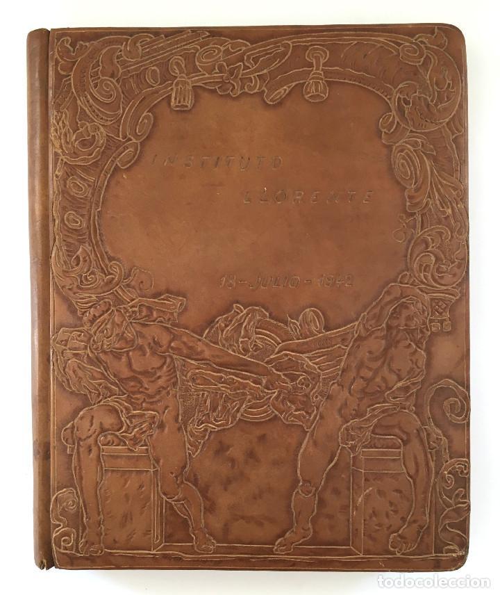 Libros antiguos: ANUARIO INSTITUTO LLORENTE. ARTE ORIGINAL 1942 CIENCIAS JACINTO MEGIAS CUERO POLICROMIA CANTO DORADO - Foto 19 - 81962932