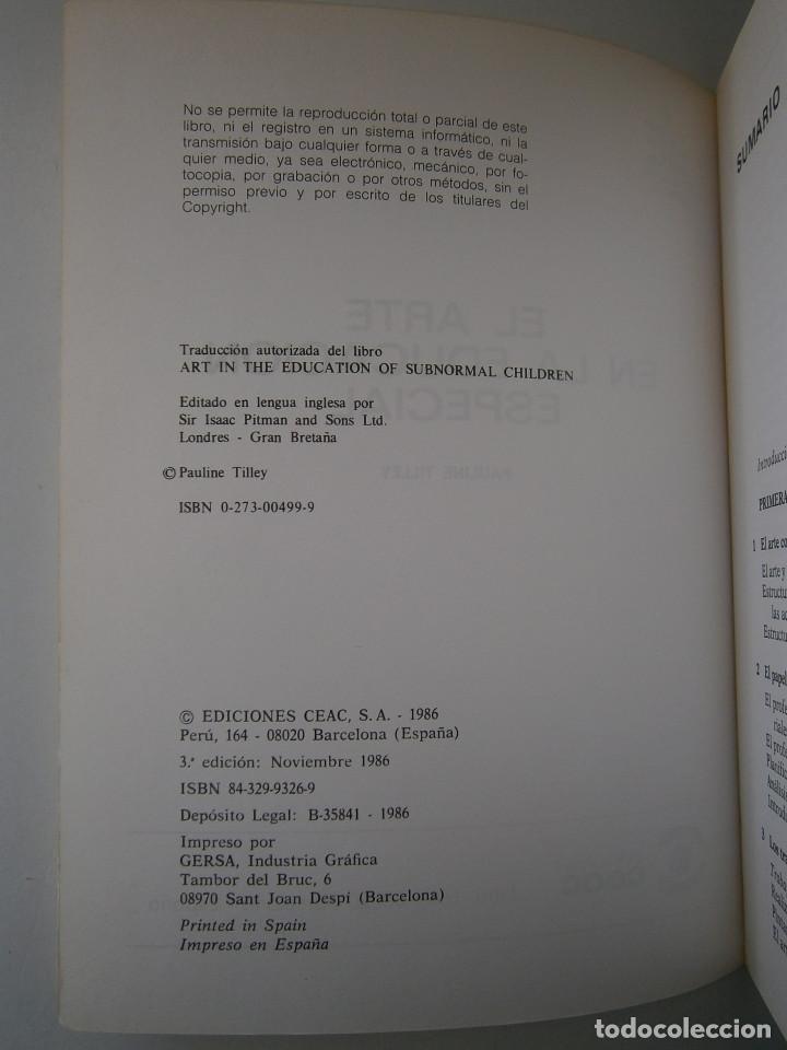 Libros antiguos: EL ARTE EN LA EDUCACION ESPECIAL Pauline Tilley CEAC 1986 - Foto 9 - 83602072