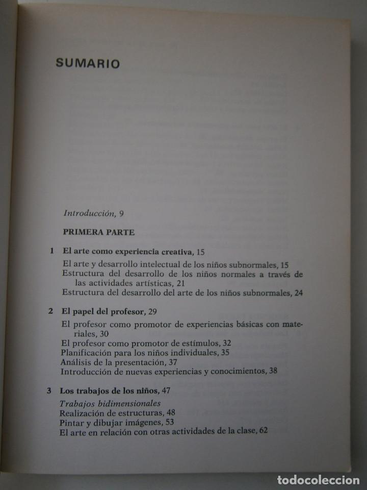 Libros antiguos: EL ARTE EN LA EDUCACION ESPECIAL Pauline Tilley CEAC 1986 - Foto 10 - 83602072