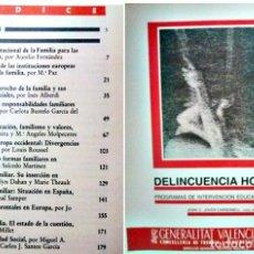 Libros antiguos: DELINCUENCIA HOY PROGRAMAS DE INTERVENCION EDUCATIVA. Lote 87214656