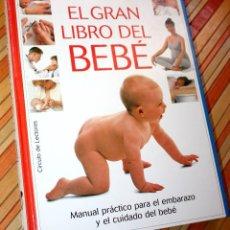 Libros antiguos: EL GRAN LIBRO DEL BEBÉ ELIZABETH FENWINCK 256 PÁGINAS CÍRCULO DE LECTORES. Lote 89004136