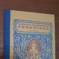 Libros antiguos: CARTILLA MODERNA DE URBANIDAD. 1929. . Lote 90525055