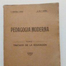 Libros antiguos: PEDAGOGIA MODERNA TOMO I TRATADO DE LA EDUCACION - VICENTE PERTUSA Y PERIZ Y ANTONIO GIL MUÑIZ 1929 . Lote 90735035