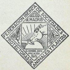 Libros antiguos: LIBRO FEDERACION IBERICA PROTECTORAS ANIMALES Y PLANTAS,AÑO 1931,TEMA TAUROMAQUIA,REPUBLICA ESPAÑOLA. Lote 94550123
