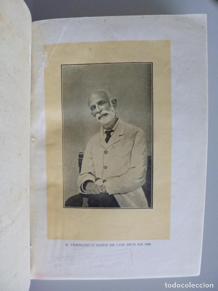 Libros antiguos: RAFAEL ALTAMIRA // GINER DE LOS RIOS EDUCADOR // EDITORIAL PROMETEO - Foto 4 - 94943419