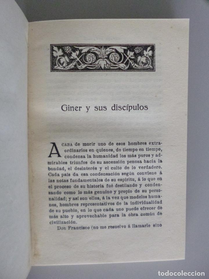 Libros antiguos: RAFAEL ALTAMIRA // GINER DE LOS RIOS EDUCADOR // EDITORIAL PROMETEO - Foto 5 - 94943419