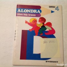 Libros antiguos: CARTILLA 4º ALONDRA. Lote 99482279
