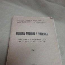 Libros antiguos: PSICOLOGÍA PEDAGÓGICA Y PAIDOLOGICA - ADAPTADA A LAS ESCUELAS MAGISTERIO - AÑO 1951 . Lote 99738059