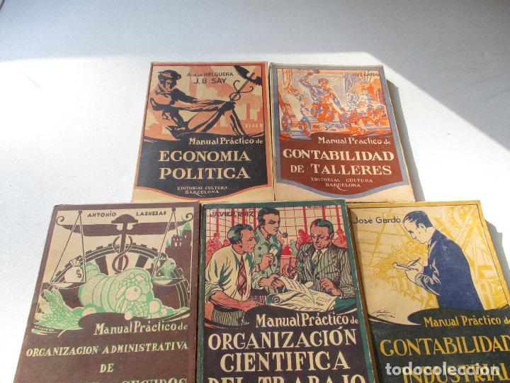 CINCO MANUALES PRÁCTICOS DE - VV AA.- EDITORIAL CULTURA - BARCELONA- AÑOS 20 - (Libros Antiguos, Raros y Curiosos - Ciencias, Manuales y Oficios - Pedagogía)