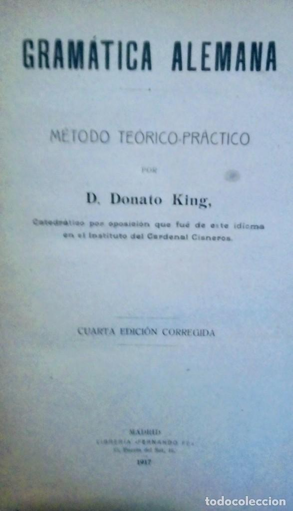 GRAMATICA ALEMANA (Libros Antiguos, Raros y Curiosos - Ciencias, Manuales y Oficios - Pedagogía)