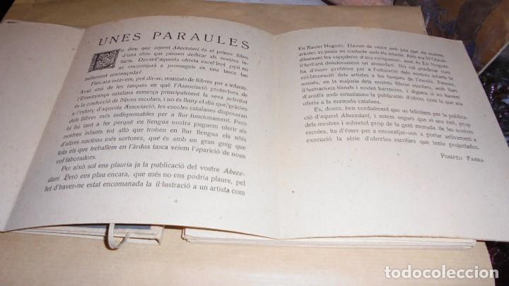 Libros antiguos: XAVIER NOGUÉS / SALVAT-PAPASSEIT / POMPEU FABRA - ABECEDARI CATALA PER NENS 1920 LLIBRERIA NACIONAL - Foto 4 - 107118679