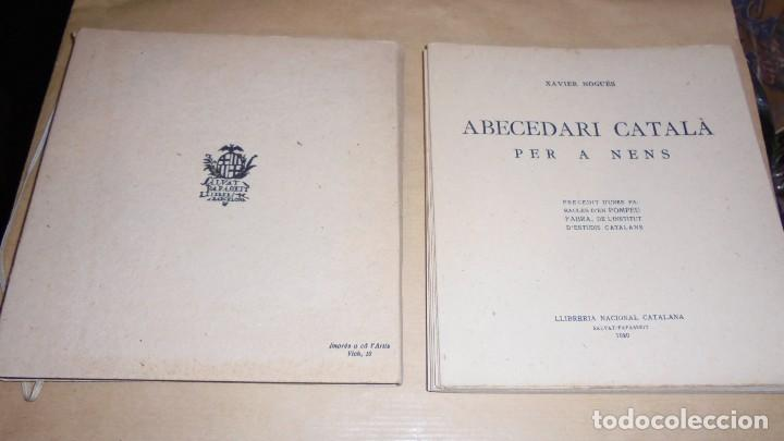 Libros antiguos: XAVIER NOGUÉS / SALVAT-PAPASSEIT / POMPEU FABRA - ABECEDARI CATALA PER NENS 1920 LLIBRERIA NACIONAL - Foto 8 - 107118679