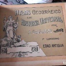 Libros antiguos: RARO CUADERNO DE EXAMEN. 1915. ATLAS DE HISTORIA UNIVERSAL. LICEO POLIGLOTA. Lote 110022239