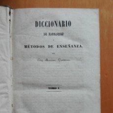 Libros antiguos: DICCIONARIO DE EDUCACION Y MÉTODOS DE ENSEÑANZA... MARIANO CARDERERA, 1854-1858. IV TOMOS 1ª ED.. Lote 113919751