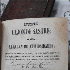 Libros antiguos: NUEVO CAJON DESASTRE, OSEA ALMACEN DE CURIOSIDADES, SECRETOS DE ARTES. J.JOVER. IGUALADA 1853. Lote 114738635