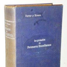 Libros antiguos: TRATADO DE LA LEGISLACIÓN DE PRIMERA ENSEÑANZA VIGENTE EN ESPAÑA.(SEPTIEMBRE DE 1915). Lote 114951067