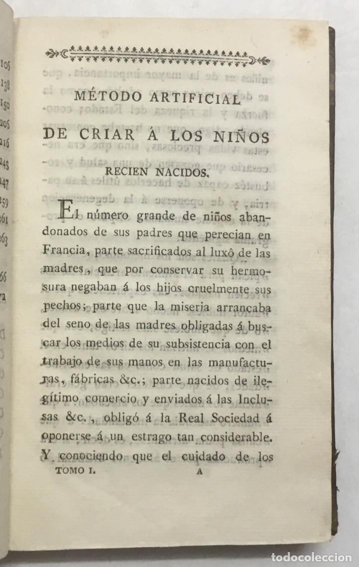 Libros antiguos: IBERTI Y LÓPEZ, José. MÉTODO ARTIFICIAL DE CRIAR A LOS NIÑOS RECIEN NACIDOS y de darles una buena e - Foto 2 - 125904059