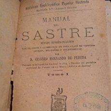Libros antiguos: 1880. MANUAL DEL SASTRE. Lote 128613216