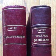 Libros antiguos: TRATADO DE HIGIENE ANTONIO SALVAT Y NAVARRO, TOMO 2 Y 3, AMBAS PRIMERA EDICION. Lote 130266350