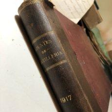 Libros antiguos: APUNTES DE ARTILLERÍA BARCELONA AÑO 1917. Lote 133173986