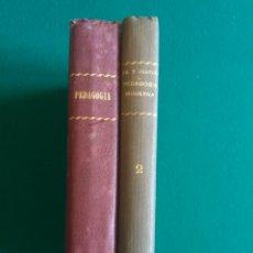 Libros antiguos: PEDAGOGIA MODERNA. TOMOS 1 Y 2.. Lote 134011947
