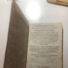 Libros antiguos: REUS LIBRO CUBIERTA PERGAMINO (CARTILLA ORTOLOGICA RAMON CAMI Y PONTONS). Lote 136627480