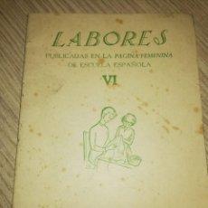 Libros antiguos: LABORES PUBLICADAS EN LA PAGINA FEMENINA DE ESCUELA ESPAÑOLA. Lote 139423842