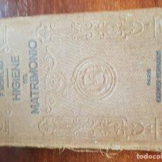 Libros antiguos: HIGIENE DEL MATRIMONIO. Lote 140116726