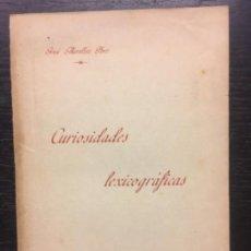 Libros antiguos: CURIOSIDADES LEXICOGRAFICAS, JOSE MIRALLES, MALLORCA, 1892. Lote 140155766