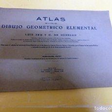 Libros antiguos: ATLAS DE DIBUJO GEOMÉTRICO ELEMENTAL DE 1935. Lote 140294598