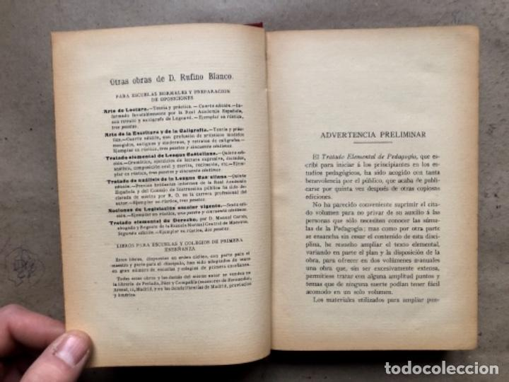 Libros antiguos: TEORÍA DE LA EDUCACIÓN POR RUFINO BLANCO Y SÁNCHEZ. PEDAGOGÍA (PRIMER TOMO).REVISTA DE ARCHIVOS 1912 - Foto 3 - 146117054