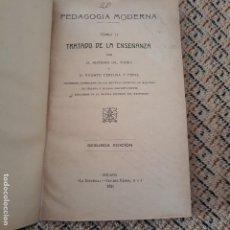 Libros antiguos: PEDAGOGIA MODERNA. TOMO II TRATADO DE LA ENSEÑANZA. 1921. Lote 146216542