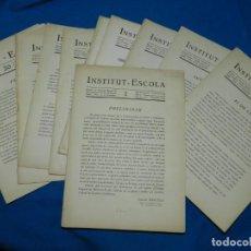 Libros antiguos: INSTITUT- ESCOLA REVISTA DE L'INSTITUT ESCOLA DE LA GENERALITAT1932 PALAU DEL GOVERNADOR -PARC DE LA. Lote 146264126