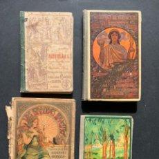Libros antiguos: 1900 - LIBROS ANTIGUOS DE ESCUELA - LOTE DE 4 LIBROS DE COLEGIO - ARITMÉTICA - INVENTOS. Lote 147502058