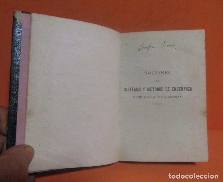 Libros antiguos: D. ODON FONOLL -NOCIONES DE SISTEMAS Y METODOS DE ENSEÑANZA- EDITOR JUAN BASTINOS BARCELONA AÑO 1860 - Foto 4 - 147788442