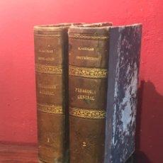 Libros antiguos: 2 LIBROS -PEDAGOGÍA GENERAL TRATADO COMPLETO . 1886.. Lote 147996570