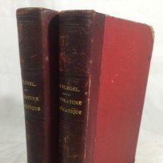 Libros antiguos: COURS DE LITTERATURE DRAMATIQUE CURSO DE LITERATURA, 1865 FRANCÉS 2 TOMOS MEDIA PIEL.. Lote 148237066