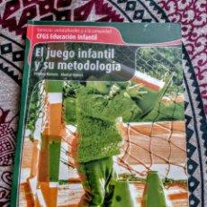 Libros antiguos: JUEGO INFANTIL Y SU METODOLOGÍA.. Lote 151032986