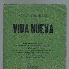 Libros antiguos: VIDA NUEVA, POR JUAN BENEJAM VIVES. AÑO 1908. (MENORCA.1.1). Lote 153547746