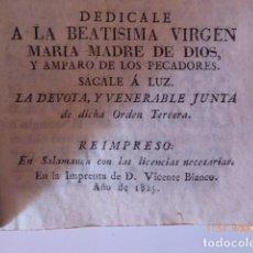 Libros antiguos: ESPEJO CARMELITANO, REIMPRESO EN SALAMANCA 1825. Lote 154975998