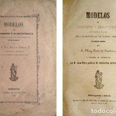 Libros antiguos: THERY, A. MODELOS DE DISCURSOS Y ALOCUCIONES PARA LA DISTRIBUCIÓN DE PREMIOS EN LAS ESCUELAS...1855.. Lote 155588962
