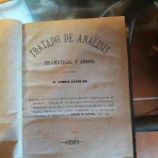 Libros antiguos: TRATADO DE ANÁLISIS GRAMATICAL. Lote 155667350
