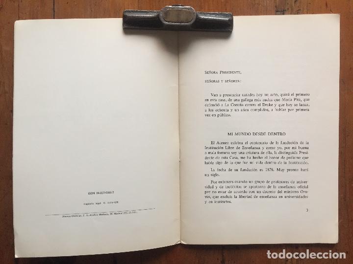 Libros antiguos: Mi mundo desde dentro - Natalia Cossío de Jiménez - Foto 2 - 217318382