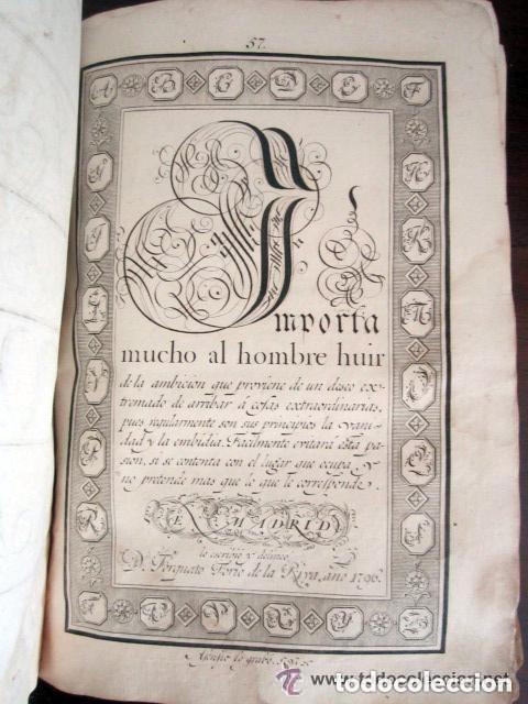 Libros antiguos: 1798. PRIMERA EDICIÓN! EL ARTE DE ESCRIBIR. T. TORÍO DE LA RIVA Y HERRERO. ENCUADERNACIÓN PIEL - Foto 6 - 168556480