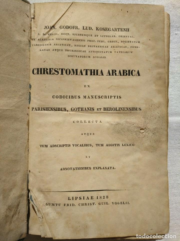 CHRESTOMATHIA ARABICA ET CODICIBUS MANUSCRIPTIS, AÑO 1828 (Libros Antiguos, Raros y Curiosos - Ciencias, Manuales y Oficios - Pedagogía)
