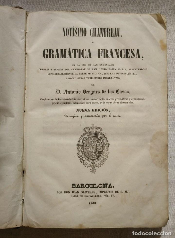 NOVÍSIMO CHANTREAU O GRAMÁTICA FRANCESA. AÑO 1852 (Libros Antiguos, Raros y Curiosos - Ciencias, Manuales y Oficios - Pedagogía)