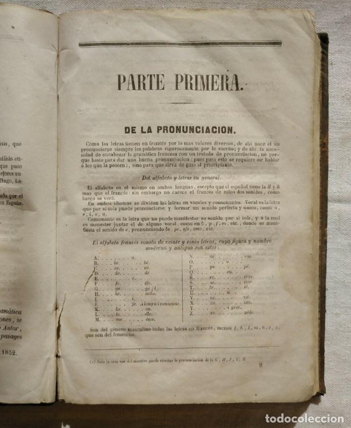 Libros antiguos: NOVÍSIMO CHANTREAU o GRAMÁTICA FRANCESA. Año 1852 - Foto 2 - 168843980