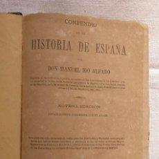 Libros antiguos: COMPENDIO DE HISTORIA DE ESPAÑA, AÑO 1882.. Lote 168845536