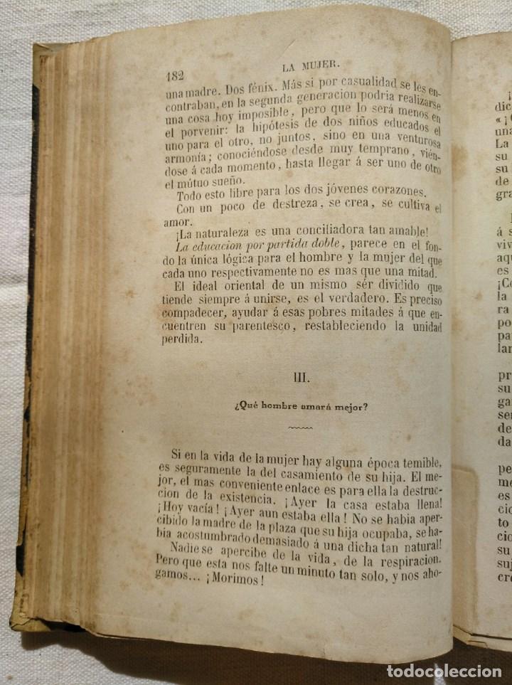 Libros antiguos: LA MUJER. INTERESANTE LIBRO DEL AÑO 1874. - Foto 3 - 168882688