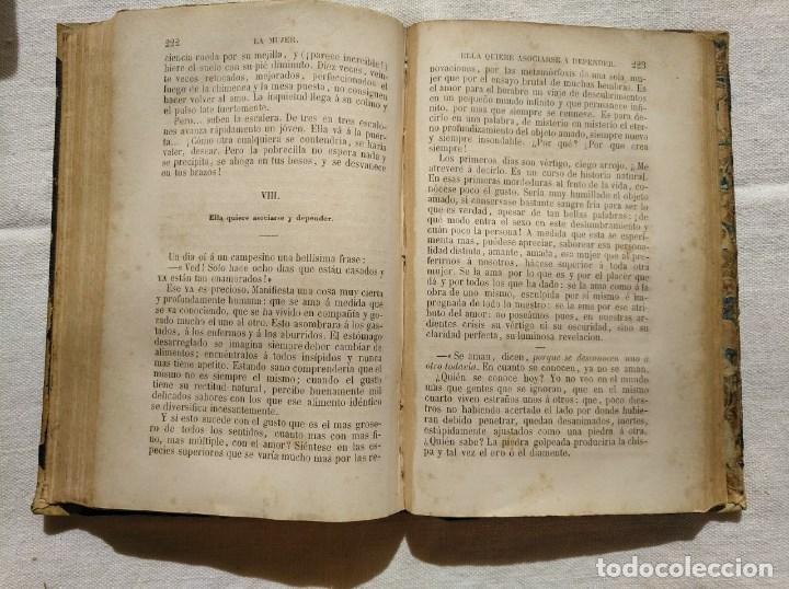 Libros antiguos: LA MUJER. INTERESANTE LIBRO DEL AÑO 1874. - Foto 4 - 168882688